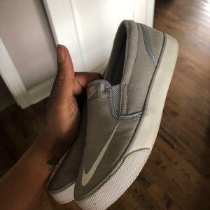 Nike Shoes - Nike Grey White Slip On 1Y